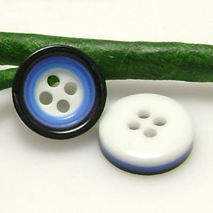 Plastic buttons, Assorted colours, Diameter 12mm, 5 buttons, (XMK410)